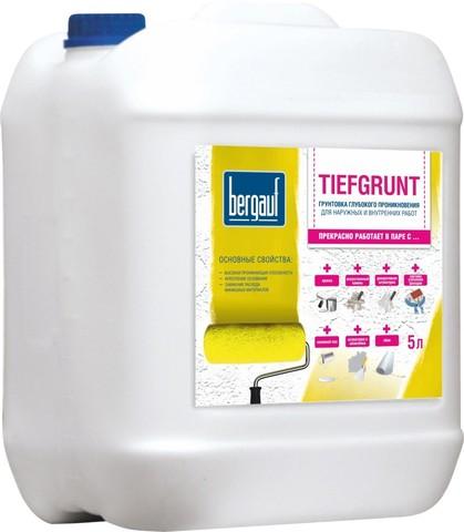 Грунтовка глубокого проникновения для наружных и внутренних работ BERGAUF Tiefgrunt  (5л)