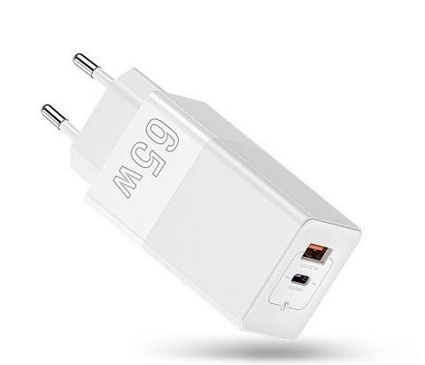 Адаптер питания сетевой GUOKE 65W Fast Charger with GaN Technology USB, Type-C White