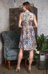 Платье голубые огурцы