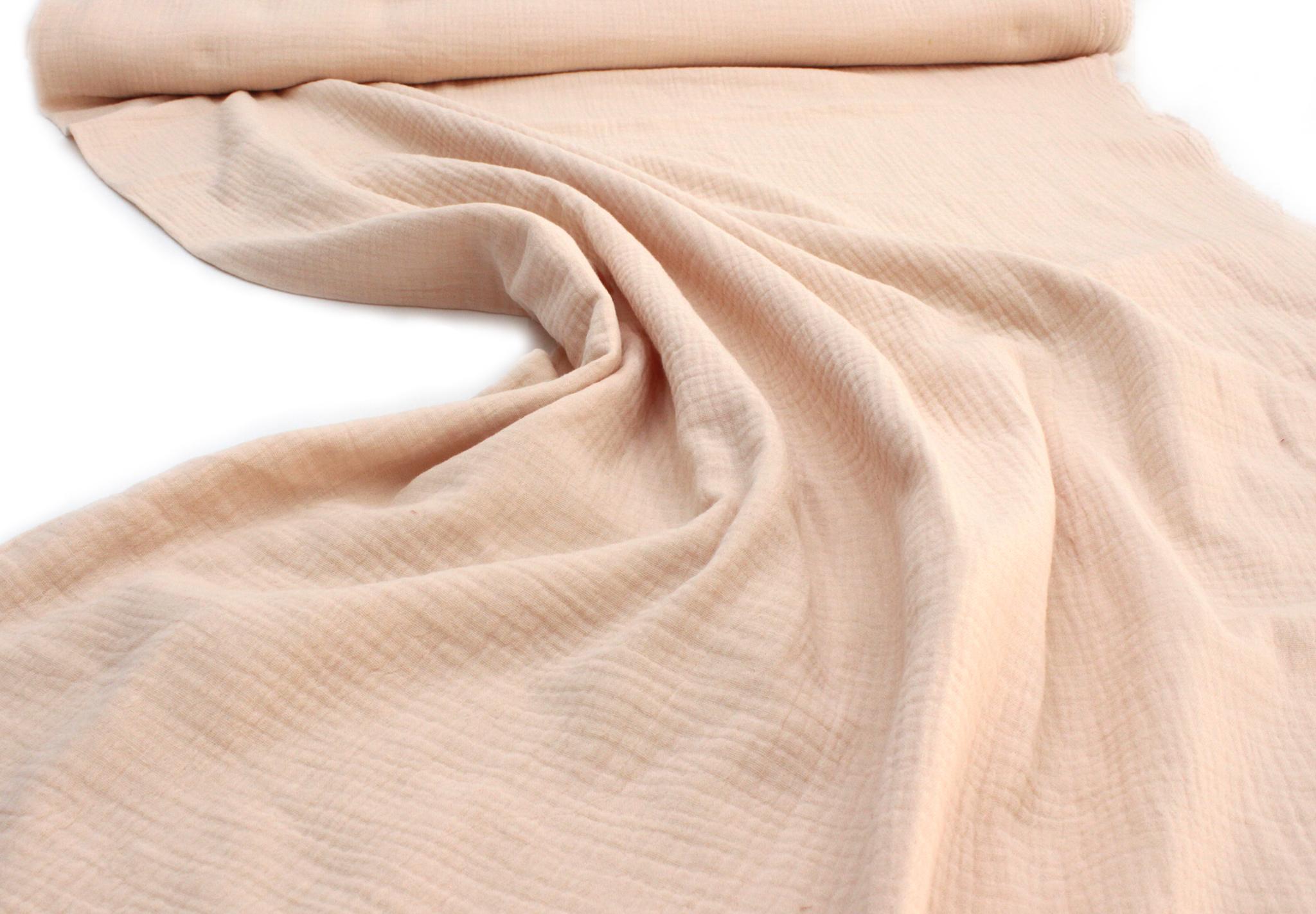 Ткань муслиновая, ванильный крем