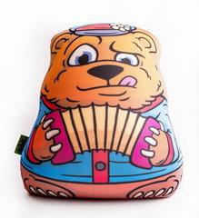 Подушка-игрушка антистресс Gekoko «Медведь-гармонист» 2