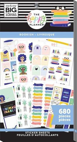 Блокнот со стикерами для ежедневника Create 365 Happy Planner Value Pack Stickers - Bookish- 680 шт