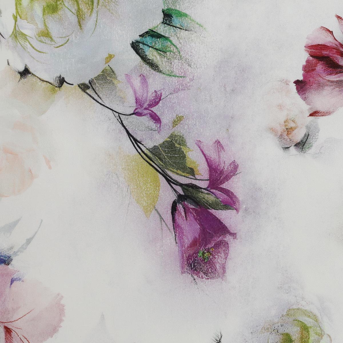 Плотный хлопковый жаккард в розовых и фиолетовых оттенках