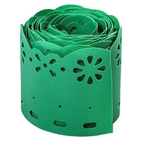 Лента бордюрная h15см 9м цвет зеленый Декор
