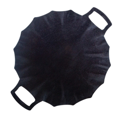 Садж ракушка из воронёной стали 30 см