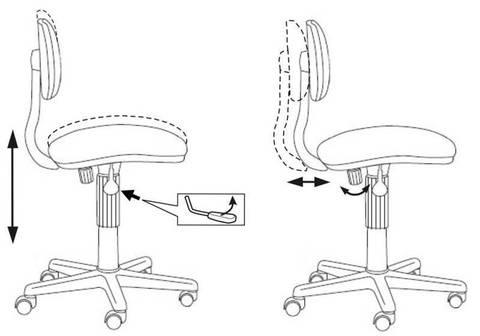 CH-W201NX Кресло детское (Бюрократ)