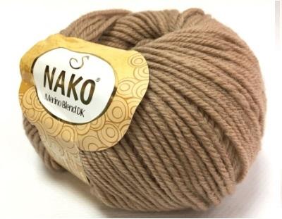 Пряжа Nako Merino Blend DK 6942 бежевый