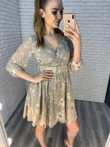серое летнее платье nadya