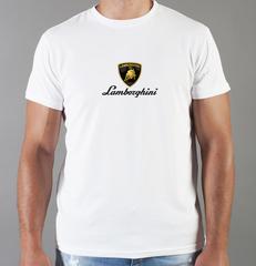 Футболка с принтом Ламборджини, Ламборгини (Lamborghini) белая 0018