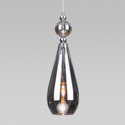 Подвесной светильник со стеклянным плафоном 50202/1 дымчатый