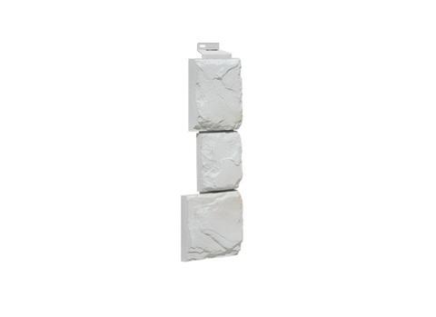 Угол серии Крупный Камень FineBer - Мелованный Белый