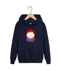 Толстовка темно-синяя с капюшоном (худи, кенгуру) и принтом Южный парк (South Park) 001