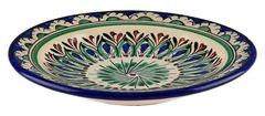 Тарелка плоская Риштанская Керамика 15 см. синяя