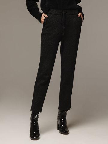 Женские черные шерстяные брюки - фото 1
