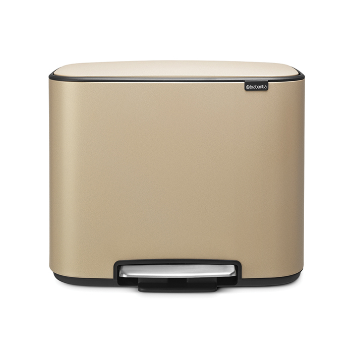 Мусорный бак Bo  (11 л + 23 л), Минерально-золотой, арт. 121548 - фото 1