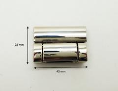 Замок портфельный 28*43 мм, серебро, на винтах