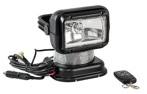 Прожектор галогеновый с беспроводным пультом ДУ, черный (серия 950)