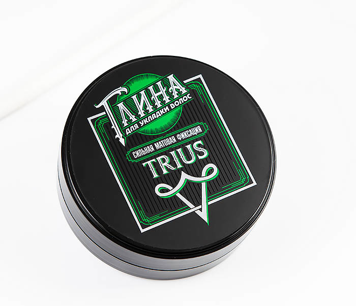 CARE115 Глина «Trius» с сильной фиксацией для волос, матовый эффект (100 гр)