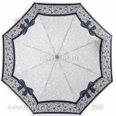 Модный зонтик мини с черными бантами и серыми узорами, АртРейн
