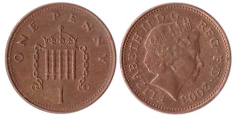 1 пенни. Великобритания. 1998-2007. VF-XF