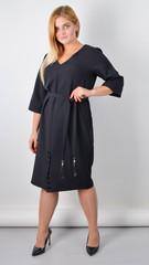 Оксана. Базове плаття великого розміру. Чорний.