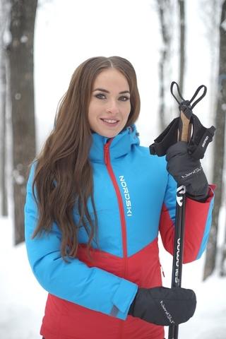 Утепленная куртка Nordski Montana Rus Blue/Red женская