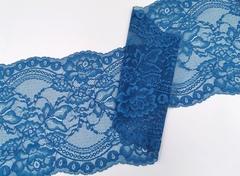Эластичное кружево, ОПТ, 22 см, лазурно-синий, (Арт: EK-2239), м