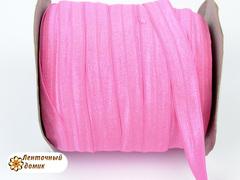 Резинка для повязок  с легким блеском ярко-розовая розовая 16 мм