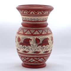 Ваза с мезенской роспись