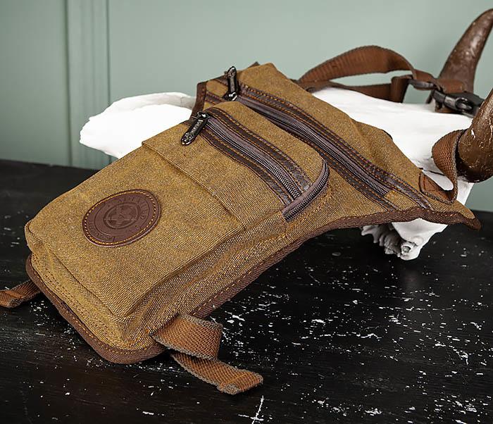 BAG509-2 Сумка на бедро из ткани с несколькими отделениями фото 04