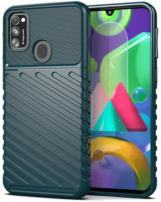 Защитный темно зеленый чехол для Samsung Galaxy M21, серии Onyx от Caseport