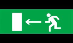 Знак для табло направления движения – К ЭВАКУАЦИОННОМУ ВЫХОДУ НАЛЕВО