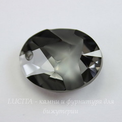 6911 Подвеска Сваровски Kaputt Oval Crystal Silver Night (26 мм)