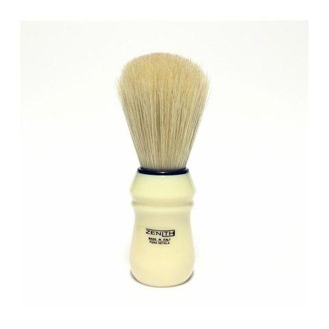 Помазок для бритья ZENITH кабан,белая ручка.Сделано в Италии