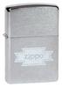 Зажигалка Zippo с покрытием Brushed Chrome, латунь/сталь, серебристая, матовая, 36x12x56