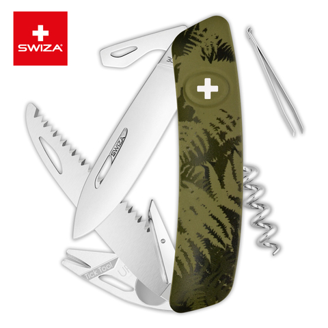 Швейцарский нож SWIZA TT05 Tick Tool, 95 мм, 12 функций, хаки