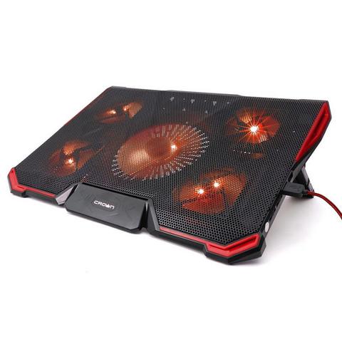 Подставка для ноутбука Crown, охлажд, до 19 дюйм, 5 вент, черная,CMLS-K330