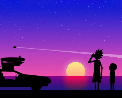 Картина по номерам на холсте Rick and Morty, 40см*50см