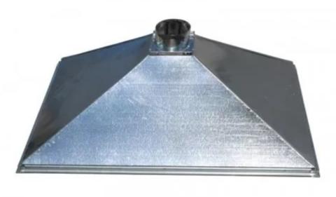 Зонт купольный 1000х600/ф160 мм