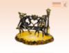 фигурка Кот и Кошка в ожидании котят на янтаре
