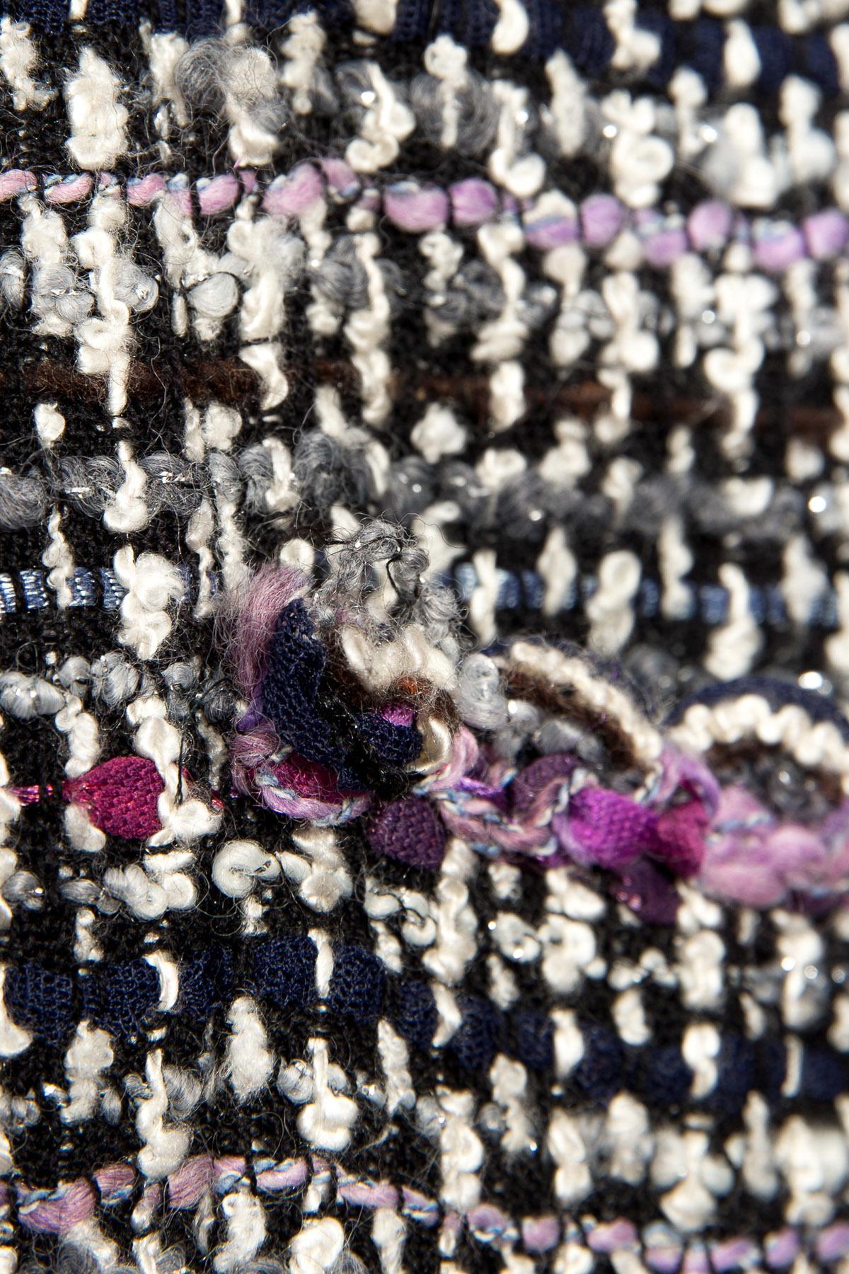 Вязанный цветной жакет