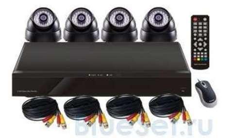 Mobidick Комплект для видеонаблюдения: DVR и 4 купольные камеры SWDVR4D