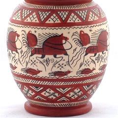 Ваза с мезенской роспись (фрагмент — нижняя часть)
