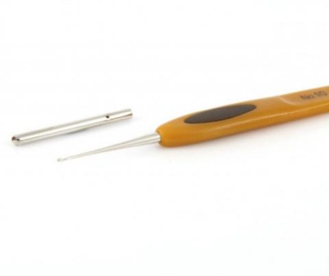 Крючок для вязания Clover Soft Touch. 1 мм
