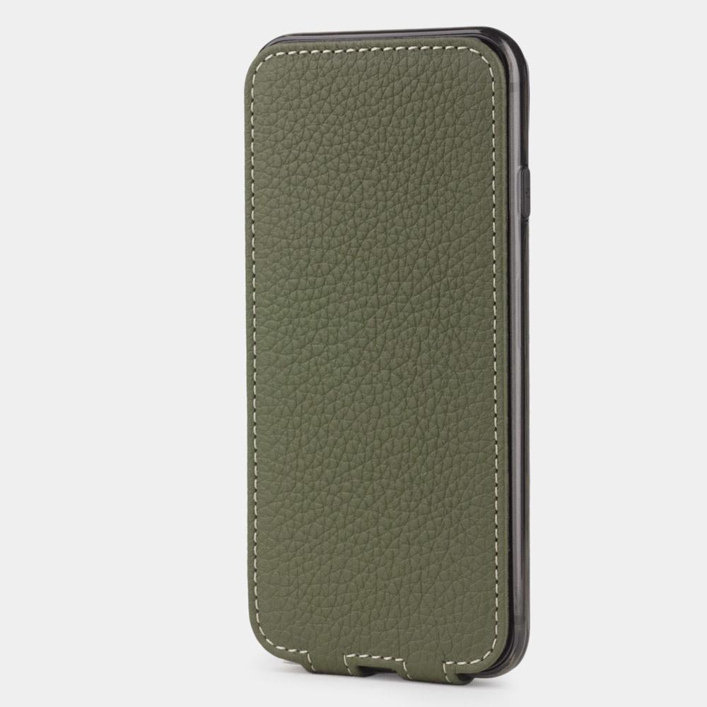 Чехол для iPhone 8/SE из натуральной кожи теленка, зеленого цвета