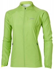 Ветровка беговая женская Asics Woven Jacket зеленая