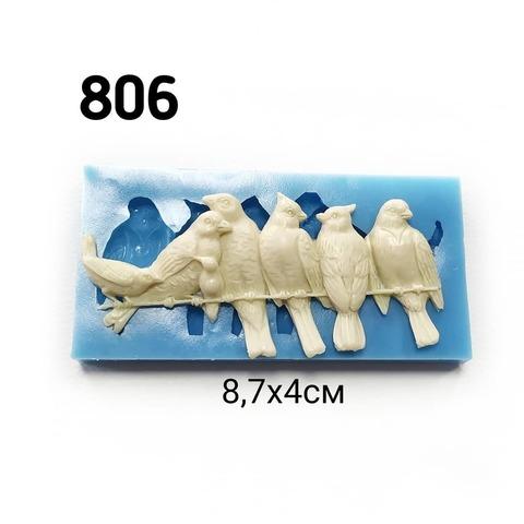 Молд Птички на проводе 8,7х4см, Арт.PO-0806, силикон