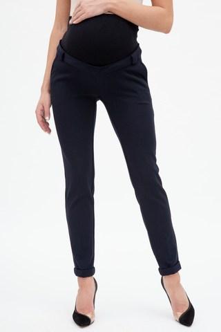 Утепленные брюки для беременных 12101 синий