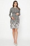 Платье для беременных 06131 синий/белый