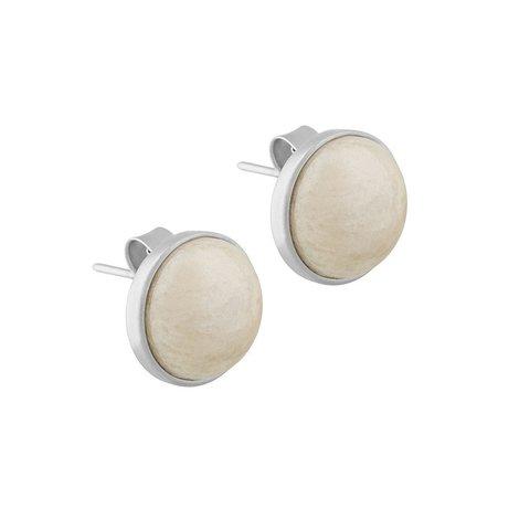Пусеты Pearl Amazonite Beige A1992.12 BR/S